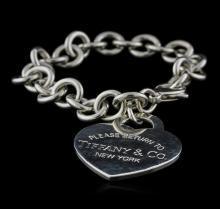 Tiffany & Co. Heart-Tag Bracelet - Silver