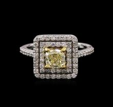 1.73ctw Fancy Yellow Diamond Ring - 14KT Two-Tone Gold