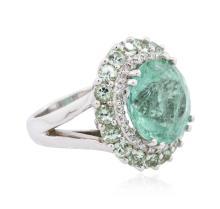 18KT White Gold 13.45ctw Tourmaline and Diamond Ring