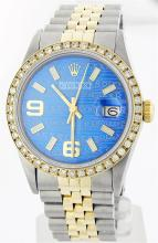 Rolex Two-Tone 1.00ctw Diamond DateJust Men's Watch