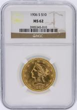 1906-S NGC MS62 $10 Liberty Head Eagle Gold Coin