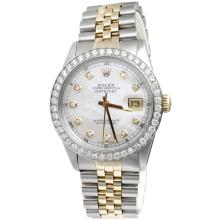 Rolex 14KT Two-Tone 2.00 ctw Diamond DateJust Men's Watch