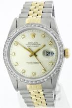 Rolex Two-Tone 1.20 ctw Diamond DateJust Men's Watch