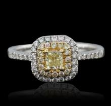 14KT Two-Tone Gold Yellow Diamond Ring