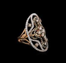 1.80 ctw Brown Diamond Ring - 14KT Rose Gold