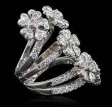 18KT White Gold 3.04 ctw Diamond Ring
