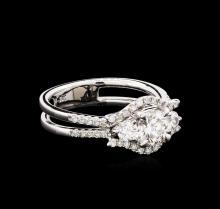 1.22 ctw Diamond Ring - 18KT White Gold