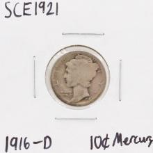 1916-D Dime Liberty Head Silver Coin