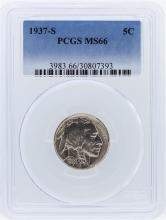 1937-S PCGS MS66 Buffalo Nickel