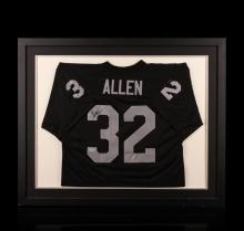 Marcus Allen Framed Autographed Jersey