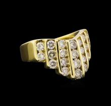 1.58 ctw Diamond Ring - 14KT Yellow Gold