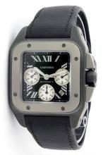 Cartier Black Carbon Titanium Santos XL 100 Men's Watch