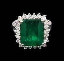 11.15ct Emerald and Diamond Ring - 18KT White Gold