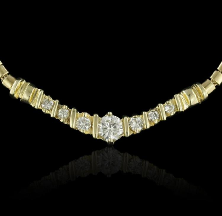 14KT Yellow Gold 0.77ctw Diamond Necklace GB1823