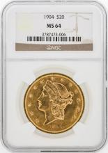 1904 NGC MS64 $20 Liberty Head Double Eagle Coin