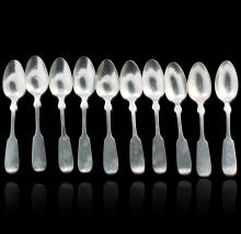 Antique Coin Silver Set of (10) Spoons