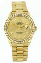 Gents Rolex President 18KT Gold Diamond DateJust Wristwatch