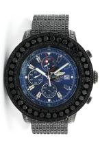 Gents Breitling Black PVD 15.00ctw Black Diamond Super Avenger Wristwatch