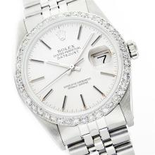 Gents Rolex Stainless Steel 1.00ctw Diamond DateJust Wristwatch