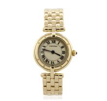 Ladies Cartier 18KT Yellow Gold VLC Panthere Wristwatch