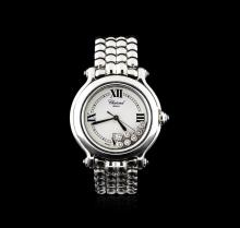 Ladies Chopard Stainless Steel Diamond Happy Sport Wristwatch