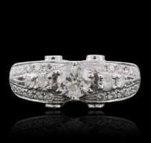 14KT White Gold 1.15 ctw Diamond Ring