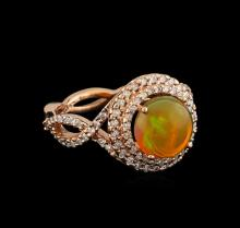 2.08 ctw Opal and Diamond Ring - 14KT Rose Gold