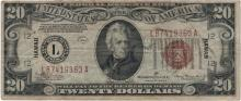 1934 $20 Hawaii Federal Reserve Note Currency