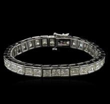 25.45 ctw Diamond Tennis Bracelet - 14KT White Gold