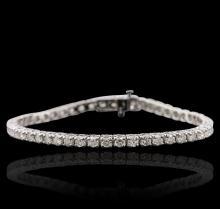 14KT White Gold 4.64 ctw Diamond Tennis  Bracelet