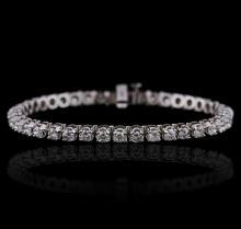 14KT White Gold 4.47 ctw Diamond Bracelet