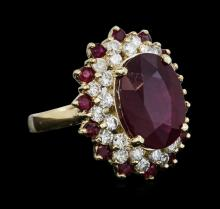 14KT Yellow Gold 12.78ctw Ruby and Diamond Ring