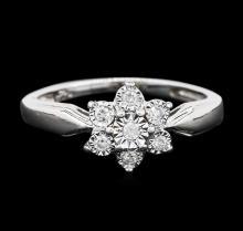 14KT White Gold 0.05ctw Diamond Ring