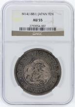M14 (1881) NGC AU55 Japan Yen Coin