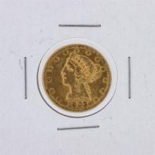1903-S $5 CU Liberty Head Half Eagle Gold Coin