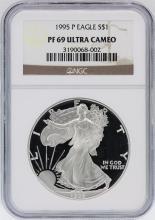 1995-P NGC PF69 Ultra Cameo American Silver Eagle Dollar