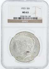 1923 NGC MS63 Morgan Silver Dollar