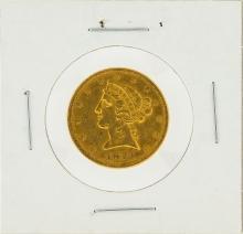 1873 $5 Open 3 XF Liberty Head Half Eagle Gold Coin