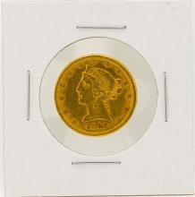 1881 $5 AU Liberty Head Half Eagle Gold Coin