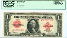1923 $1 FR 40 PCGS Graded Extremely Fine Legal Tender Note