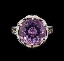 Tacori Amethyst Ring - 18KT Rose Gold and Sterling Silver