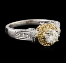 14KT Two-Tone Gold 0.72 ctw Diamond Ring