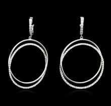 14KT White Gold 1.52 ctw Diamond Earrings