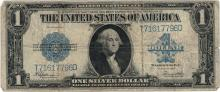 1923 $1 Large Size Silver Certificate Currency