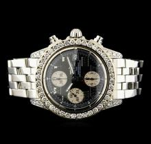 Breitling Stainless Steel 3.81 ctw Diamond Men's Watch
