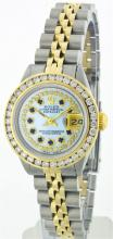 Rolex Two-Tone 2.50 ctw Diamond and Sapphire DateJust Ladies Watch