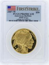 2007-W PCGS PR69DCAM First Strike American Buffalo .9999 Fine Gold Bullion Coin