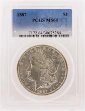 1887 PCGS MS64 Morgan Silver Dollar