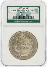 1885-O NGC MS62 Morgan Silver Dollar