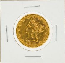 1886-S $10 AU Liberty Head Eagle Gold Coin